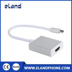 Dispositivo USB 3.1 Tipo C Macho para HDMI 4K Fêmea Cabo adaptador para Mac