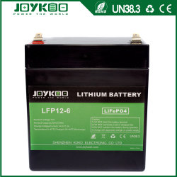 بطارية LFPO4 ذات 12 فولت من نوع ليثيوم بقدرة 6 أمبير لضوء LED في حالات الطوارئ إمداد الطاقة غير القابل للانقطاع (UPS) للضوء الغامر والنسخ