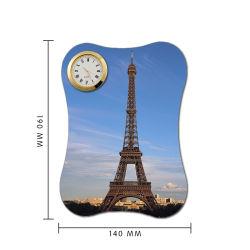 Le panneau de photos en cuir avec l'horloge pour sublimation