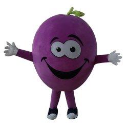Очаровательный Фрукты виноград талисман Пользовательских символов мультфильмов костюм для взрослых
