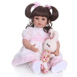 52cm Silicone souple Reborn fille Baby Doll Toy réalistes de la princesse robe rose nouveau-nés Doll mignon cadeau d'anniversaire