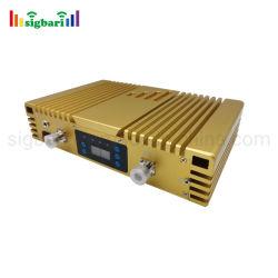 إشارة محمول من النوع الذهبي ثنائي النطاق من النوع AGC وMGC زيادة عالية في المكسب عبر تقنية GSM وWCDMA 900 2100 ميجاهرتز repeater 70 ديسيبل طاقة عالية 23 ديسيبل مللي واط