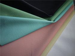 인공적인 의복 가죽이 수를 놓은 패턴 PU/PVC/Microfiber 합성 물질에 의하여 어린이용 카시트 가구 가죽 구두를 신긴다