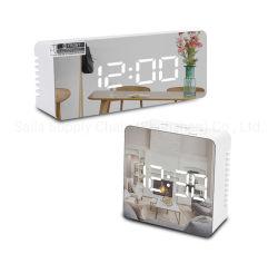 Espejo LED Reloj Despertador Mesa Digital Reloj para la decoración del hogar