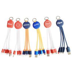 모든 이동 전화를 위한 1개의 책임 케이블 USB 데이타 전송 케이블에 대하여 주문 로고 선물 3