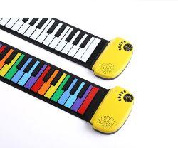 Arco iris de colores Piano Roll mano juguetes Los Niños Los niños las claves de 49 veces el Día del Niño Piano Electrónico de regalo
