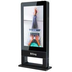 Anuncio de 55 pulgadas de pantalla LCD de pantalla vertical ultraligero Air-Cooled piso de la máquina de publicidad exterior CCTV Promoción Publicidad LED Monitor LCD Digital Signage