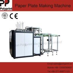 Ecológica desechables de alta velocidad de comida rápida aperitivos plato plato de papel con el recuento de máquina de formación y el apilado