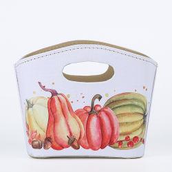 Получение перфорированные мешок, портативный складной мешок, индивидуальные дома подарок сумка из натуральной кожи