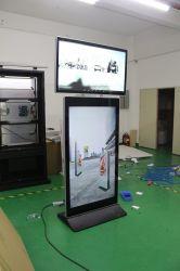 Горячие продажи 55 дюйма напольная подставка двойной стороны Digital Signage ЖК-дисплей рекламы два киоска с сенсорным экраном