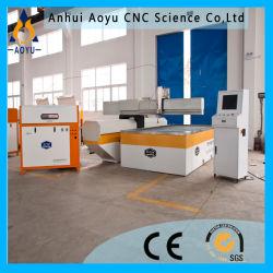 金属3Dの機械化のためのAy5020uの5軸線6000psi CNCのウォータージェット/Waterjet打抜き機