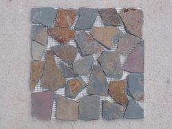 Mosaïque de pierre de galets irrégulière naturel pour la construction de revêtement de pierre