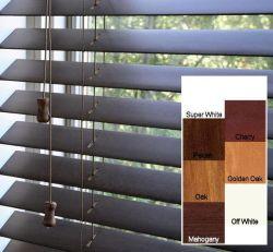 أفضل خصوصية كاملة ستائر خشبية أغطية نوافذ Basswood للعائلة/العامة