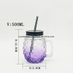 Le flacon en verre Mason Jar pour boissons et de la crème glacée 500ml