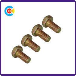 DIN/ANSI/BS/JIS kolen-staal/Schroef Van roestvrij staal van de Staart van de Flens van de Draai van de Hand de Hexagonale Dwars Vlakke