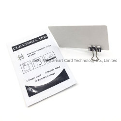 Cartão de limpeza para leitor de cartão de crédito, ATM/POS fechadura de porta/terminal/equipamentos da estação de gás