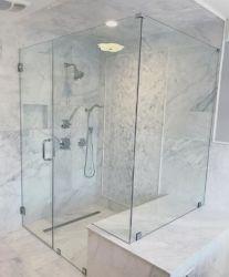 "Sin Cerco de 3/8"" Gabinetes de baño de cristal templado Ultra Clear"