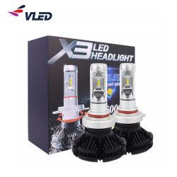 H7, H4 9005 X3 LED фары 70Вт лампы