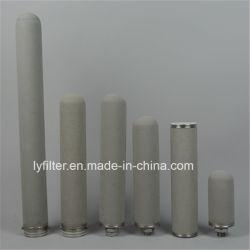 Micro poroso cartucho de filtro sinterizado de polvo de Titanio/Varilla/Tubo con M20 M30 226 222 de la interfaz de DOE