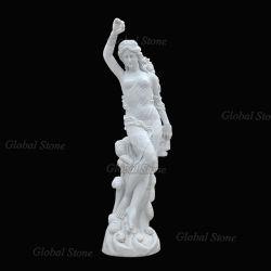 Elegante mármol tallada Dama estatuas (GSS-154)