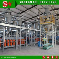 Gomma residua automatica passeggero/dell'automobile che tagliuzza sistema per riciclare spreco/pneumatico usato