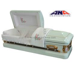 Funeral Products를 위한 애나 18ga Steel Round Corner Metal Casket