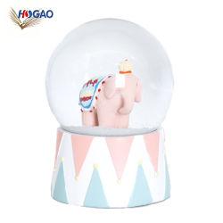 Personalisierbare, Schöne Schnee-Kugel für Geschenkartikel Mit Pink Elephant Inside