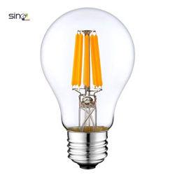 디스트리뷰터 220-240V A60 LED 가벼운 필라멘트 전구 4W 6W 8W 10W 12W 필라멘트 램프 LED 빛