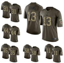 Las mujeres jóvenes Mens Mike Evans Kyle Juszczyk jersey de fútbol personalizadas
