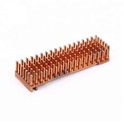 カスタム冷たい鍛造材LED銅Pinのひれ脱熱器、ラジエーター、脱熱器
