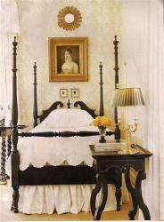 La clásica de madera Muebles de dormitorio cama con dosel en venta