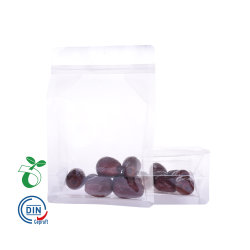 Commerce de gros recyclés Eco Friendly Amidon de maïs Ziplock Stand up 100% de l'emballage alimentaire compostables pochette en plastique transparent sac biodégradable