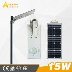 15 W 110-120 Lumen/W LED Solar Street Light mit Ce/EMC/RoHS-Zertifizierung