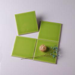 Salle de bains utilisé en céramique décorative vert pomme Wall Tile 10x10cm 4x 4 pouces