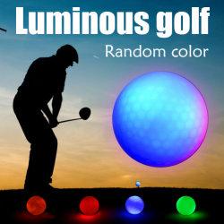 Multi-Color LED Noche electrónica Tracker pelota de golf luminoso intermitente ilumina las bujías de pelotas de golf para la noche el golf