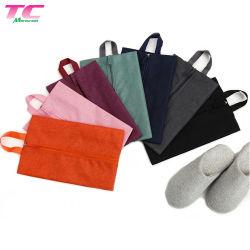 Luxe à la poussière étanche résistant et durable la pendaison Oxford Tissu Tissu Rose Sac à fermeture éclair de stockage de chaussures pour le commerce de gros
