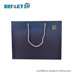 Cor impressa personalizada Art Coated sacos de compras com pega