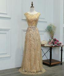 Popular de alta calidad personalizado de verano el oro brillante vestido de noche