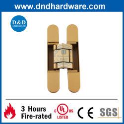Alta seguridad de estilo europeo de puertas decorativas de oro de montaje en 3D Para Trabajo Pesado el ajuste de la bisagra ocultada oculta Invisible Bisagra de puerta de bisagra de puerta de aleación de zinc de Hardware