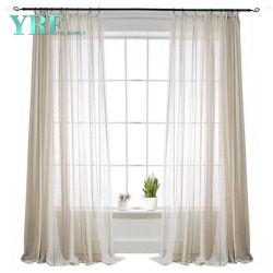 100% poliéster cortina de voile cortinas de tela