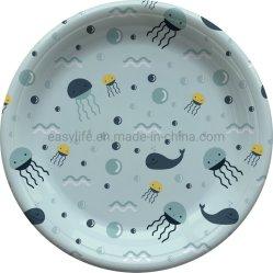 """7 """" Milieuvriendelijke Oceaan Afgedrukte Plastic Platen voor Partij P071810f"""