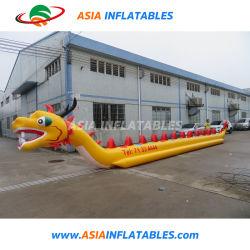 カスタマイズされた膨脹可能な水ゲームのドラゴンのボート、10人のための飛行バナナボートTowables
