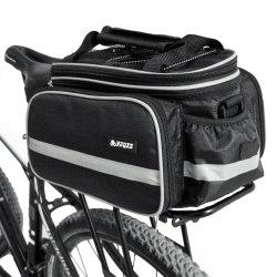 Sacchetto posteriore impermeabile nero isolato della bicicletta di memoria di cremagliera della bici del circuito di collegamento