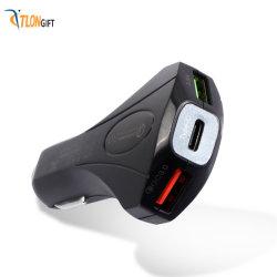 Hochwertiges Dual-USB-Schnellladegerät, Typ C, 5 V, aus Metall
