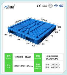 1200*1000*1200, 1200, 1400*1200 Mayorista de fábrica dos laterales y doble cara de palets de plástico de HDPE/bandeja