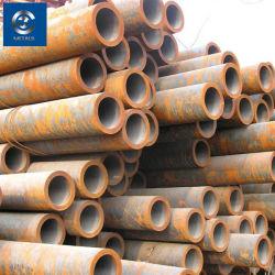 Commerce de gros d'usine Q235 Caissons pour puits de carbone noir de tuyaux en acier soudé