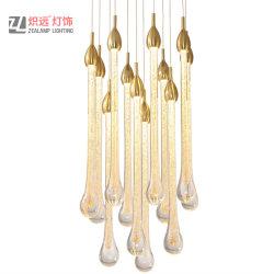 Hotel-Vorhalle-Projekt-hängende Lampen-Luftblasen-Glasabsinken-Beleuchtung-kreativer Aluminiumleuchter