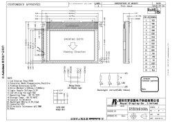 Ryp240160D'UN MODULE LCD COG FSTN avec rétroéclairage à LED blanche