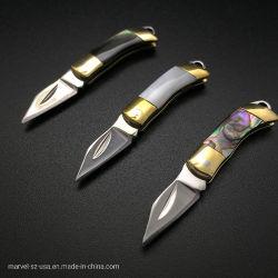 存続EDCのツールのシェルのネックレスのナイフを折る小型Keychainのナイフ