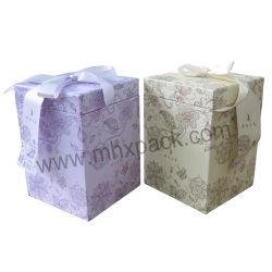 Emballages en papier coloré boîte cadeau de Noël avec Bowknot